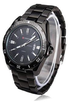 Curren นาฬิกาข้อมือสุภาพบุรุษ สายสแตนเลส รุ่น C8110 - Black