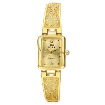 สร้อยข้อมือแฟชั่นนาฬิกาหรูสี่นาฬิกาควอทซ์พลอยผู้หญิง
