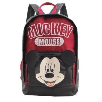 Disney Mickey Mouse กระเป๋าเป้ กระเป๋านักเรียน สะพายหลัง(Black)