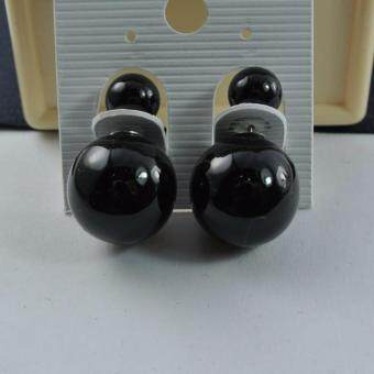 Pearl Jewelry ต่างหูมุกแก้ว สีดำ EP03
