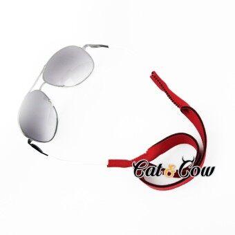 Cat & Cow รุ่น LC11R, #สายคล้องแว่นตา Eyewear Retainer สีแดง