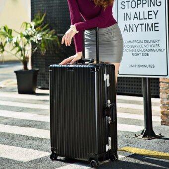 DC กระเป๋าเดินทางล้อลาก 4 ล้อ ขนาด 20 นิ้ว รุ่น D188- สีดำ