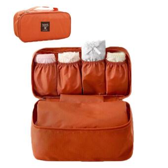 TravelGear24 กระเป๋าเก็บของใช้ส่วนตัวและชุดชั้นใน (Orange/สีส้ม) Underwear Storage Bag