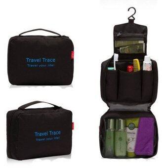 TravelGear24 กระเป๋าจัดระเบียบอุปกรณ์อาบน้ำและเครื่องสำอาง (Black/สีดำ)