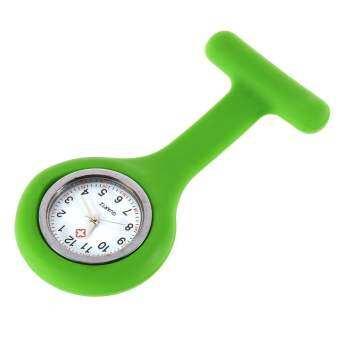 เจลซิลิโคนหมอพยาบาลมินิแบบพกพากระเป๋านาฬิกาเข็มกลัดเสื้อกางเกง (สีเขียว)