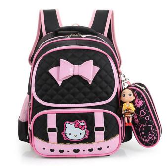 Hely TOP High-capacity Kids Girls Cartoon Schoolbag Waterproof Primary School Pupils Backpack with Pencil Bag (Black) - Intl