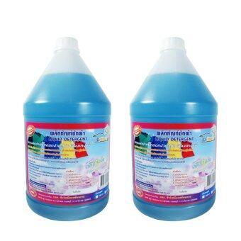 DShow น้ำยาซักผ้า กลิ่นบลูเซนต์ ดีโชว์ ขนาด 4 ลิตร, 2 แกลลอน
