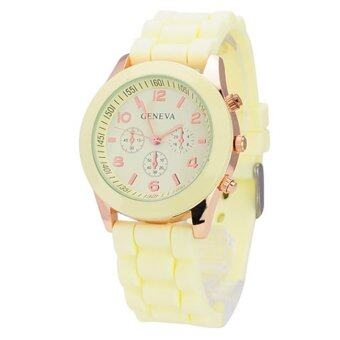 Geneva Colorful นาฬิกาข้อมือผู้หญิง สีครีม สายซิลิโคน รุ่น GNV-591