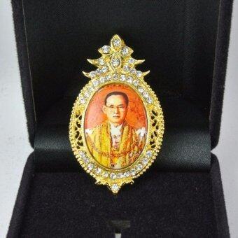 Pearl Jewelry เข็มกลัดในหลวง PK06 งานช่างไทย