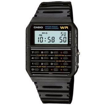 CASIO Standard นาฬิกาข้อมือผู้ชาย สีดำ สายเรซิน รุ่น CA-53W-1Z