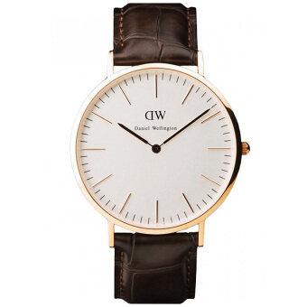 Daniel Wellington 0111DW Classy York 40mm นาฬิกาข้อมือ แฟชั่น ผู้ชาย สายหนัง Men Watch - Dark Brown