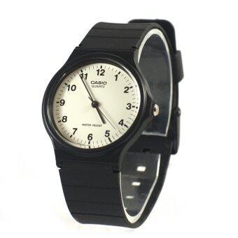 Casio Standard นาฬิกาข้อมือ ชายหรือหญิง สายเรซิน รุ่น MQ-24-7B สีดำ / ขาว