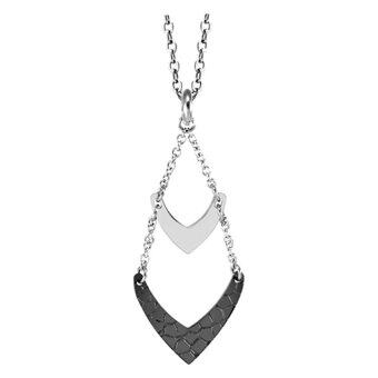 555jewelry จี้เก๋ๆ ดีไซน์แปลกไม่เหมือนใคร รุ่น MNP-113G-D สี Steel และสีดำ