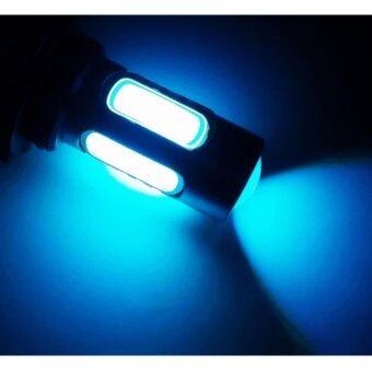 LED หลอดไฟรถยนต์ หลอดไฟตัดหมอก HB4 (9006) แสงสีฟ้า จำนวน 1 คู่ (ICE BLUE) แถมฟรี ไฟหรี่ SMD แท้ 100% มูลค่า 250 บาท (image 1)