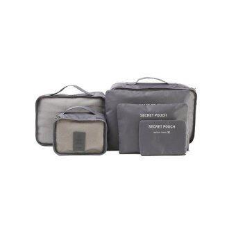 MONOPOLY กระเป๋าจัดระเบียบเสื้อผ้าสำหรับเดินทาง ( Grey ) เซ็ท 6 ชิ้น
