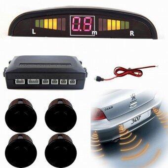 Auto LED Display Car Reverse Backup Radar with 4 Parking Sensors ราคาถูกที่สุด ส่งฟรีทั่วประเทศ
