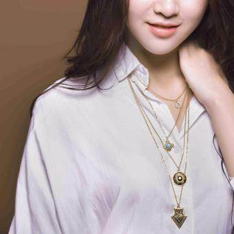 Harga Multiple Layers Bohemian Style Enthnic Fashion Necklace Jewelry (15049) - intl