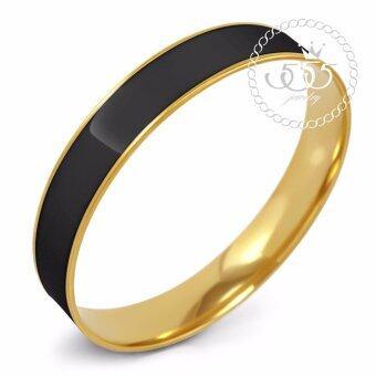 555jewelry กำไลสำหรับสุภาพสตรี รุ่น FSBG128-11(Black/Yellow Gold)