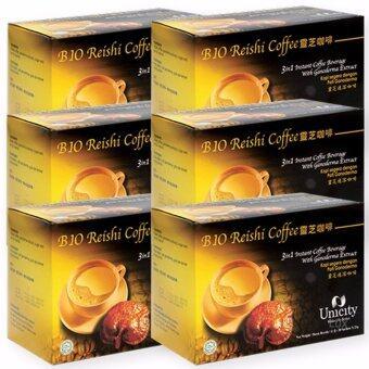 Unicity Bio Reishi Coffee Beverage ยูนิซิตี้ กาแฟผสมเห็ดหลินจือ เพื่อสุขภาพ บรรจุ 20 ซอง (6 กล่อง)