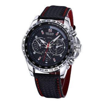 MEGIR นาฬิกายี่ห้อหรูสบายนาฬิกากันน้ำกีฬานาฬิกาควอทซ์แฟชั่นนาฬิกาข้อมือผู้ชาย