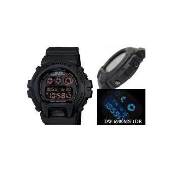 Casio G-Shock นาฬิกาข้อมือผู้ชาย สีดำด้าน สายเรซิ่น รุ่น DW-6900MS-1DRประกันcmg