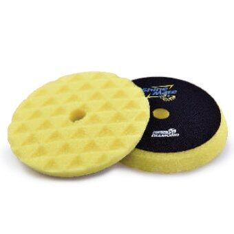 SHINE MATE ฟองน้ำขัดเคลือบสีรถ รุ่น Black Diamond สีเหลือง ขนาด 7 นิ้ว