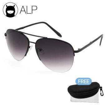 ขายถูก ALP Sunglasses แว่นกันแดด Aviator Style รุ่น ALP-0030-BKT-BKG (Black/Black) check ราคา