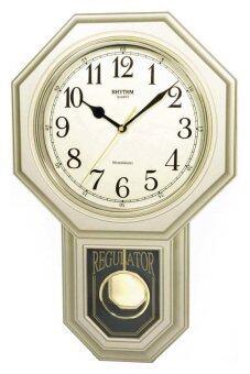 RHYTHM นาฬิกาแขวน รุ่น CMJ443-NR18 (สีทอง)