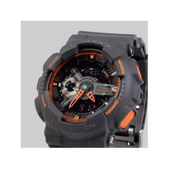 CASIO G-SHOCK รุ่น GA-110TS-1A4DR (CMG) นาฬิกาข้อมือสายเรซิ่น สีเทา/ส้ม