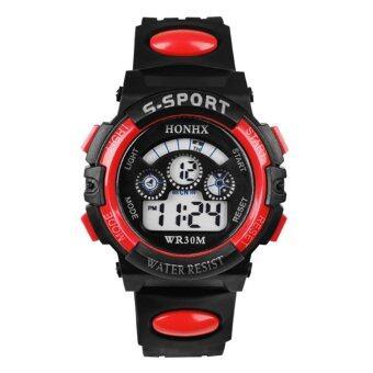 นาฬิกากันน้ำกีฬาการพาเด็กมัลติฟังก์ชั่ (สีแดง)