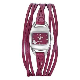 GO GIRL นาฬิกาข้อมือผู้หญิง สีชมพู สายหนัง รุ่น 697655