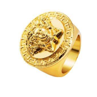 Fancyqube Fashion สุดยอดหนุ่มฮิปฮอปผสมเมดูซ่าแหวนแหวนทอง