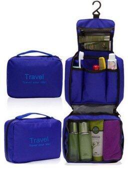 TravelGear24 กระเป๋าจัดระเบียบอุปกรณ์อาบน้ำและเครื่องสำอาง (สีน้ำเงิน)