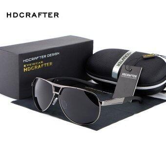 แว่นกันแดดโพลาไรซ์คนนำปืนสี Polaroid เลนส์ไทเทเนียมแว่นตากันแดดยี่ห้อรถออกแบบกรอบกล่องเดิมÓculos คน