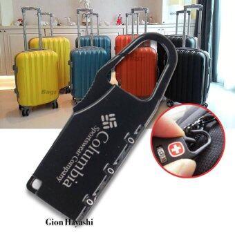 Hayashi-กุญแจล็อคกระเป๋าเดินทาง กุญแจแบบตั้งรหัสผ่าน กุญแจล็อครหัส ( สีดำ )