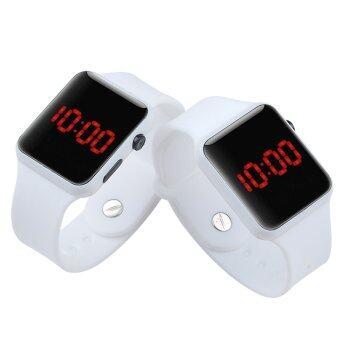 PA-HY LED นาฬิกาแฟชั่นกีฬาบุคลิกภาพรัดซิลิโคนขาว 802112