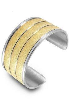 555jewelry กำไลสำหรับสุภาพสตรี รุ่น FSBG115-B (สี Gold/Silver )