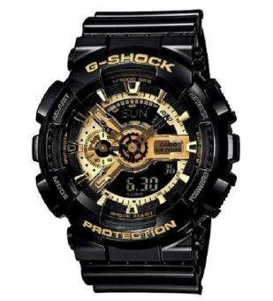 Casio G-Shock นาฬิกาข้อมือผู้ชาย สีดำ/ทอง รุ่น GA-110GB-1ADR