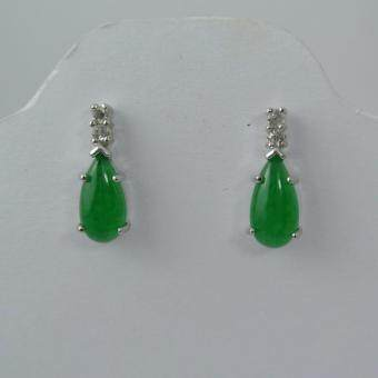 Pearl Jewelry ต่างหูหยก ทรงหยดน้ำ JE07