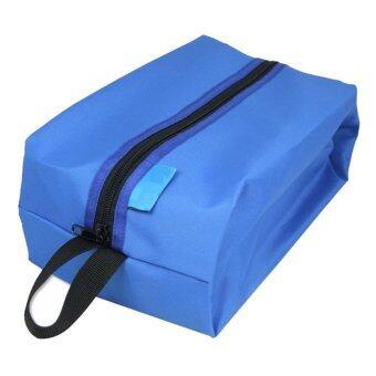 ใหม่กระเป๋ารองเท้าแบบพกพาหลายฟังก์ชันท่องเที่ยวตายเก็บเคสสีน้ำเงิน