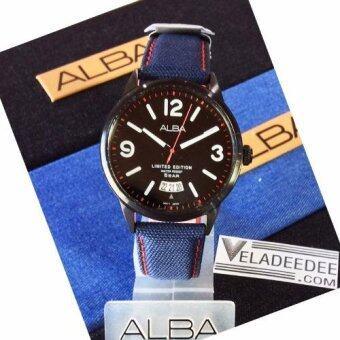 ALBA Limited Edition modern ladies นาฬิกาข้อมือหญิง สายหนังหุ้มยีนส์ (ผลิตมาเพียง 420 เรือนในโลก) รุ่น AS9C09X1