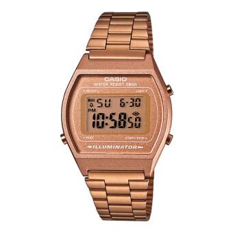 Casio Standard Digital นาฬิกาข้อมือผู้หญิง สีทอง สายสแตนเลส รุ่น B640WC-5ADF