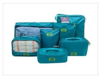 Mori กระเป๋าจัดระเบียบเสื้อผ้าสำหรับเดินทาง กระเป๋าจัดระเบียบ เซ็ท 7 ใบ Bag Organizer Set 7 pcs (Green / สีเขียว)
