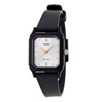 Casio Standard นาฬิกาข้อมือผู้หญิง สีดำ สายเรซิ่น รุ่น LQ-142E-7A