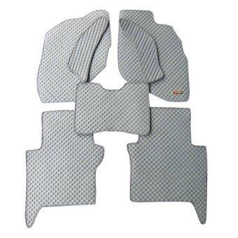 Matpro พรมปูพื้น ลายกระดุม ชุด Standard Set 7 ชิ้น สำหรับ HONDA CITY 2003-2007 (BOX) - Grey