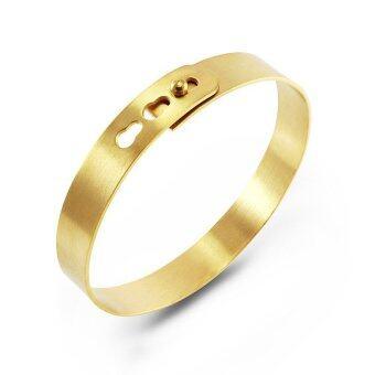 555jewelry กำไล สแตนเลสสตีล ดีไซน์สวย (สี ทอง)