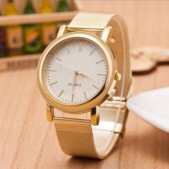 ธุรกิจเพชรพลอยเทียมผู้หญิงตาข่ายรัดข้อมือนาฬิกาควอทซ์คล้ายคลึงที่ a1-