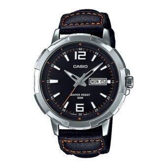 Casio Standard นาฬิกาข้อมือผู้ชาย สายหนัง MTP-E119L-1AV
