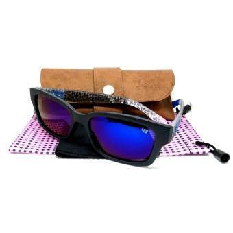 แว่นกันแดด SPY Plus ลายสีน้ำเงิน กรอบดำ เลนส์น้ำเงิน