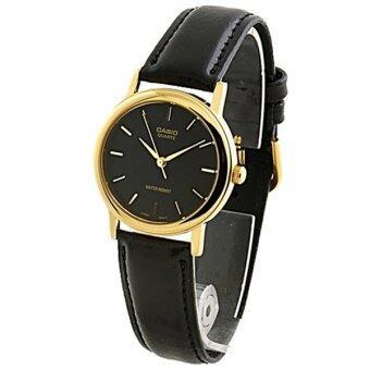 Casio Standard นาฬิกาข้อมือผู้หญิง - สีดำ สายหนังสีดำ รุ่น LTP-1095Q-1A